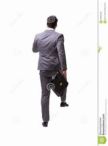 The Businessman Walking Away Isolated On White Background ...