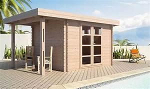 Abri De Jardin 5m2 Bois : abri de jardin en bois avec terrasse latrale couverte acacia ~ Dallasstarsshop.com Idées de Décoration