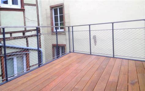 garde corps et terrasse bois metal concept escalier ferronnerie d alsace ferronnier