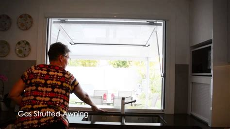 gas strutted awning youtube