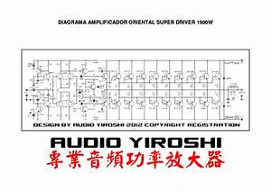 Yiroshi 1500w Power Amplifier Sm Service Manual Download  Schematics  Eeprom  Repair Info For