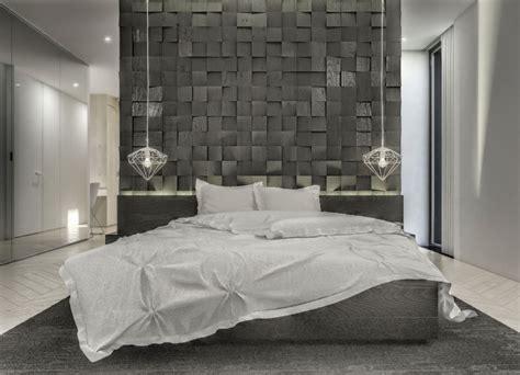 decoration chambre design déco chambre grise blanche
