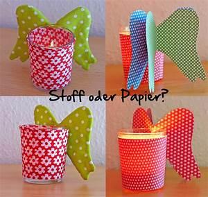 Papier Auf Glas Kleben : teelichthalter aus stoff und papier bernina blog ~ Watch28wear.com Haus und Dekorationen