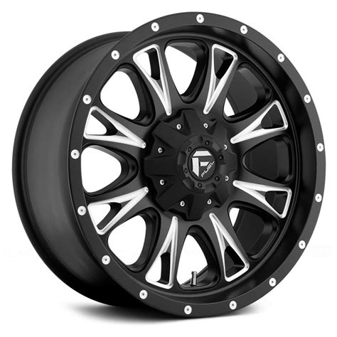 black wheels fuel d513 throttle 1pc wheels black with milled accents