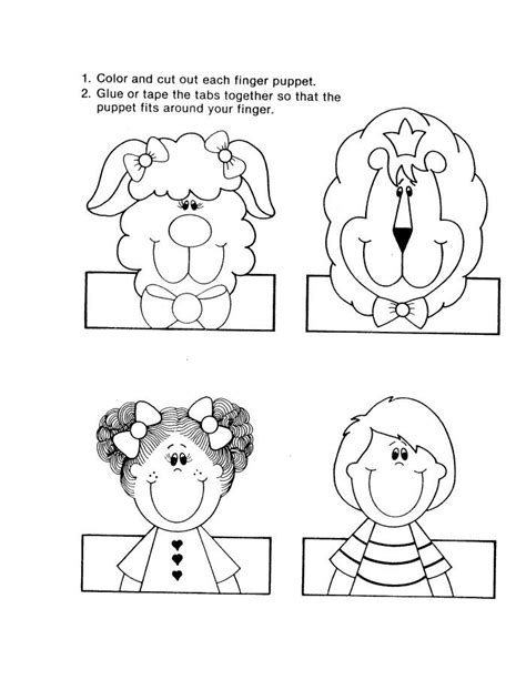 Paper Finger Puppets Templates by By The Way About Free Finger Puppet Templates Below We