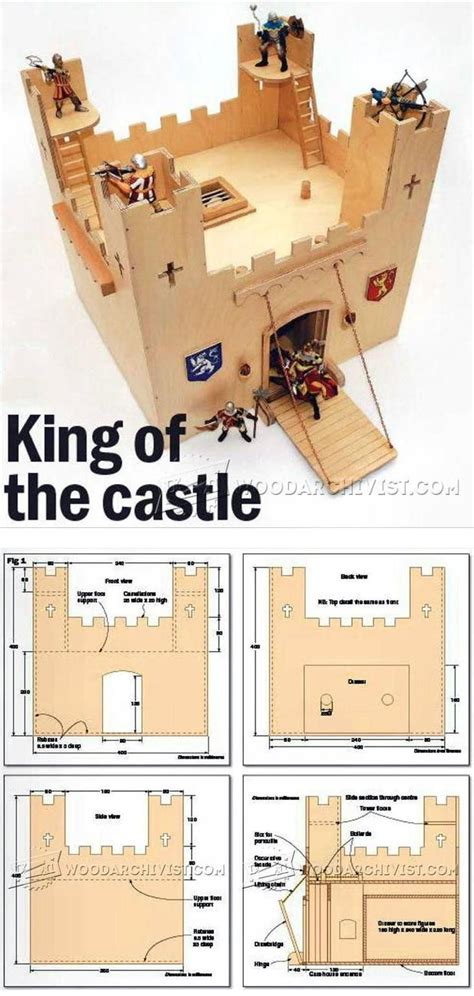 wooden castle plans wooden toy plans  projects