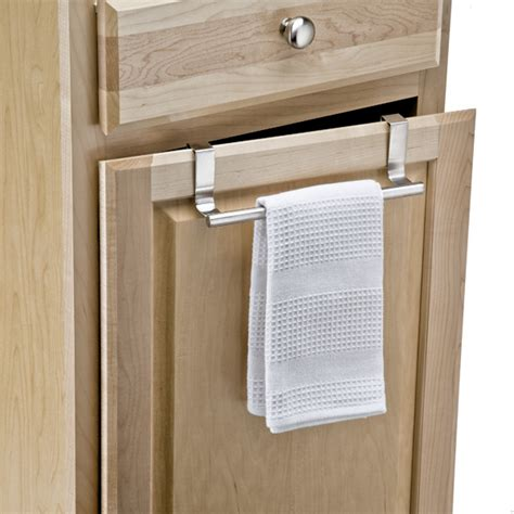 kitchen towel rack forma overcabinet towel bar the container
