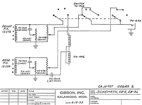 Gibson Eb3 Bas Wiring Diagram by Gibson Eb3 Circuit Schematics Series 2 Gt Gt Flyguitars