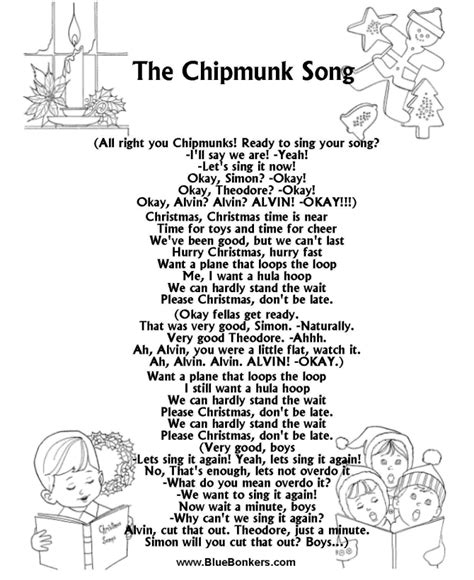 how to write a classic christmas song and why it s harder than bluebonkers the chipmunk song free printable christmas