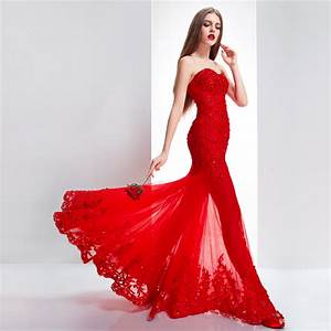 Open shoulder floor length chinese red bridal dress for Wedding dress red