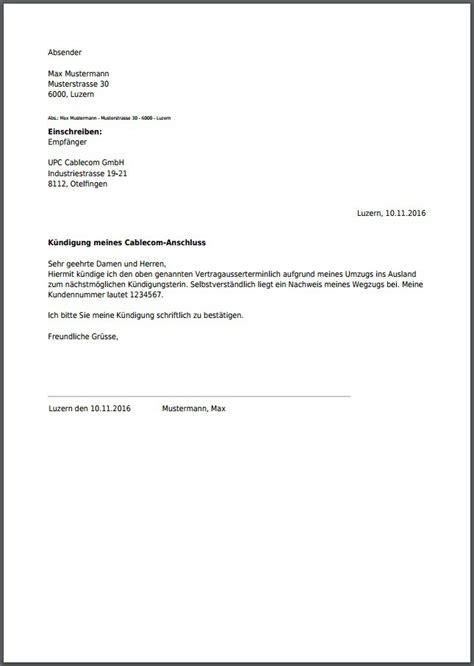 upc cablecom kuendigung  als  erstellen