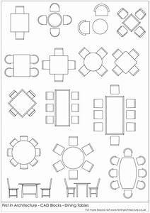 Free CAD Blocks - Dining Tables