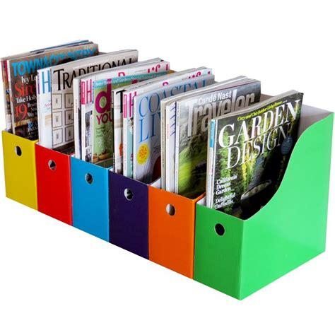 desk with file storage home office 6 magazine file holder bin desk storage