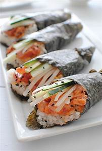 Spicy Tuna Hand Rolls   See best ideas about Tuna, Spicy ...