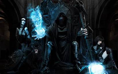 Sorcerer Dark Mage Magic Fantasy Wizard Magician
