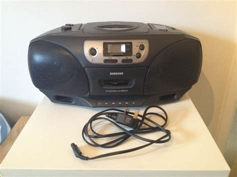 Cassette Player Boombox by Samsung Rcd 750 Cd Player Cassette Radio Boombox In