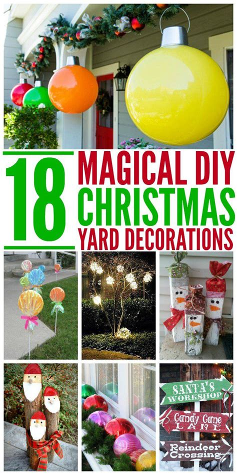christmas yard decorations ideas  pinterest