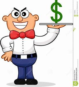 Sneaky Waiter Cartoon Stock Photography - Image: 31089862