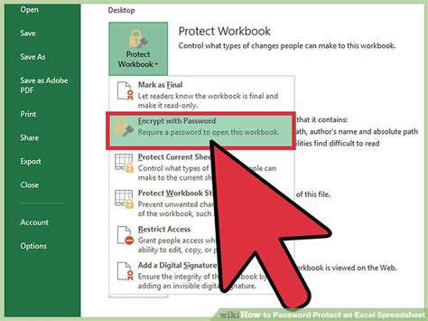 password protect  excel spreadsheet  pictures