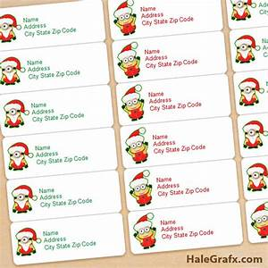 free printable christmas minions address labels With address stickers labels free