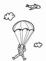 Paraquedas Desenho Coloring Desenhos Imagem Colorir Parachutes Tudodesenhos Imprimir Salvo sketch template