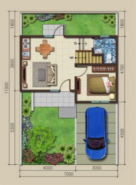 lingkar warna  denah rumah minimalis ukuran  meter