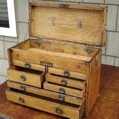 vintage wooden gerstner tool chest garage journal