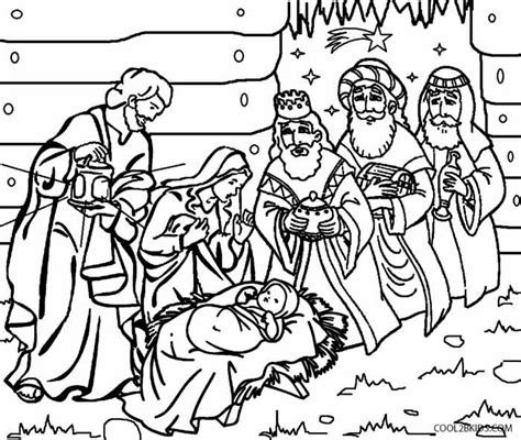 printable nativity scene coloring pages  kids coolbkids