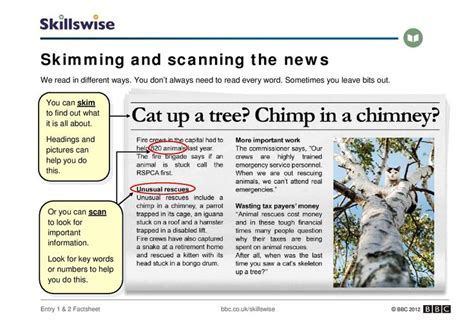 Article Template Ingles by An Introduction To Skimming And Scanning A Newspaper