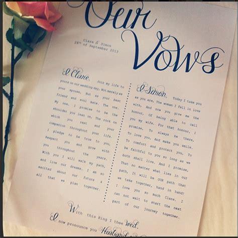 write   vows thebridebox