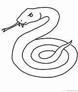 Snake Coloring Pages Printable Serpent Coloriage Cobra Snakes Realistic Mamba Drawings Dessiner Garter Sea Animals Simple Line Dessin Thedrawbot Weird sketch template