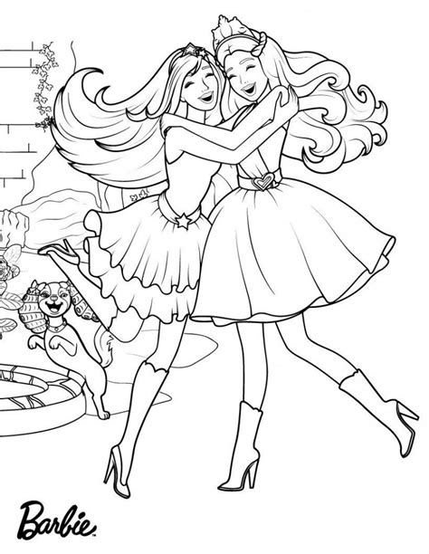 barbie princess coloring pages  coloring pages  kids