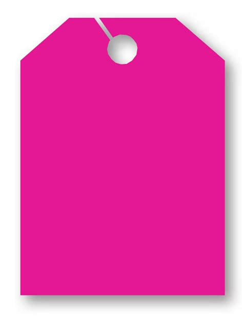 blank pink mirror hang tag jumbo
