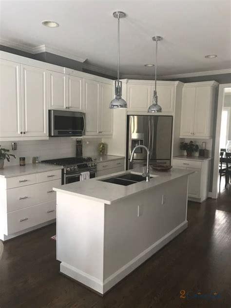 simply white kitchen  cabinet girls