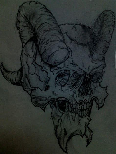 demon skull sketch  chachi  deviantart