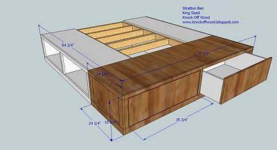 build  king size storage bed  ana white average