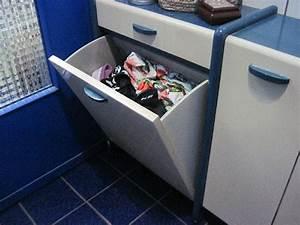 Mobiletto Per Bagno Con Vano Per La Biancheria Da Lavare