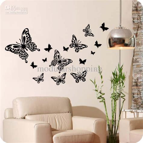 Wall Art Decorating Ideas Interior Butterfly Home Decor