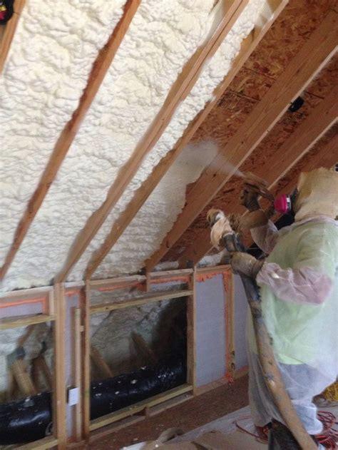 spray foam insulation installed  older house  save
