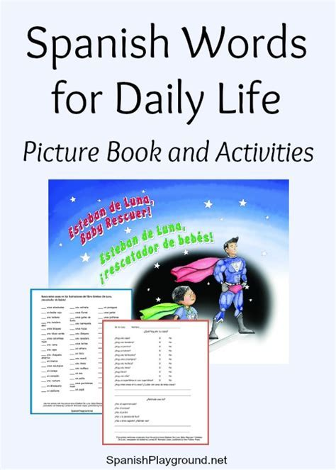 Spanish Words for Daily Life: Picture Book Activities