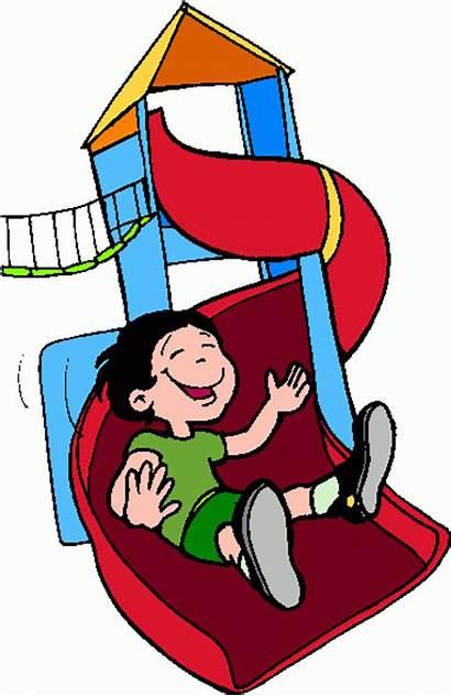 Slide Clipart Clip Play Kid Cliparts Children