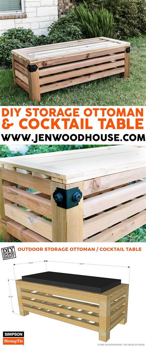 diy outdoor storage ottoman scrapworklove