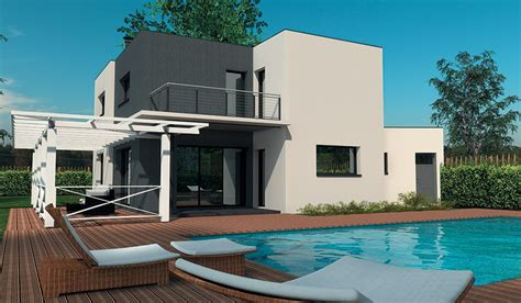 chambre beige maison contemporaine à étage 160 m 4 chambres