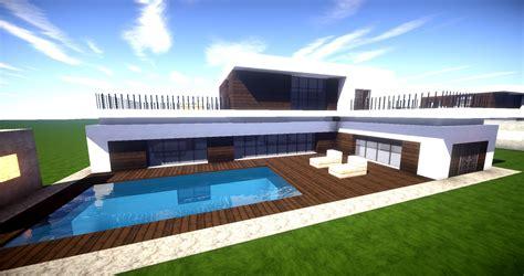 Wie Baut Moderne Häuser In Minecraft by Minecraft Modernes Haus Mit Poolterrasse Bauen 27x20
