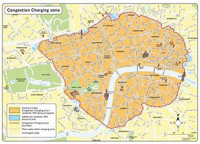 Congestion Zone Charge Londen Map
