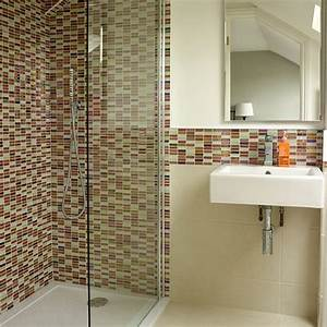 White bathroom with mosaic tiles