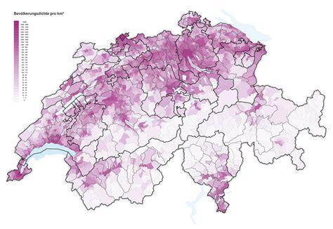 Carte Densité Population 2017 by Suisse Densit 233 2016 Carte Populationdata Net