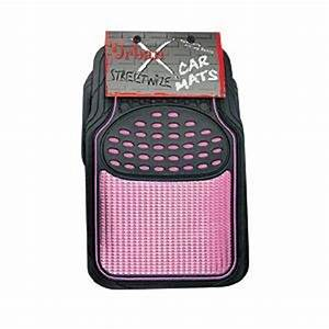 thick black pink rubber car front rear floor mat set With pink floor mats for cars
