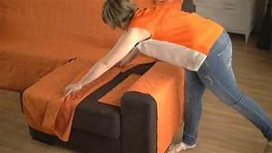 Comment Recouvrir Un Canapé D Angle : housse pour canap d 39 angle accoudoirs ind pendants youtube ~ Melissatoandfro.com Idées de Décoration