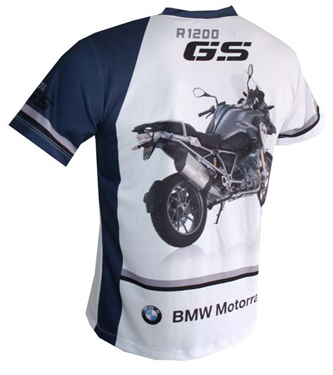 bmw r1200gs t shirt with logo and all printed